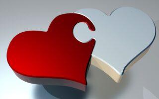 tel uw zegeningen afbeelding van twee harten die in elkaar grijpen als puzzelstukken als illustratie bij een blog over getuigen en getuigenis